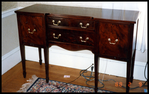Antique Sideboard After Restoration