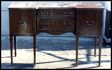 Antique Sideboard Before Restoration